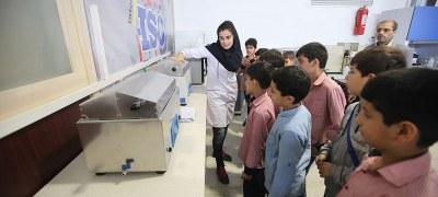 بازدید دانش آموزان دبستان پسرانه البرز از مجتمع آزمایشگاهی بهینه آزمایش کیش
