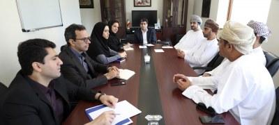 نشست معاون اقتصادی سازمان منطقه آزاد کیش با هیات عمانی