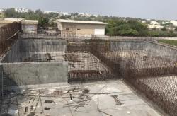 پیشرفت 70 درصدی ساخت مخزن SBR تصفیه خانه شمال جزیره